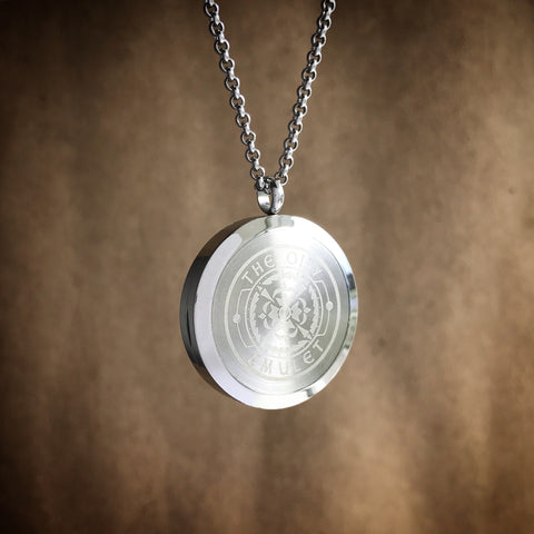 The Oily Amulet Design No.1 - Stainless Steel Diffuser Necklace