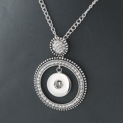 Circles of Bling Snap Necklace