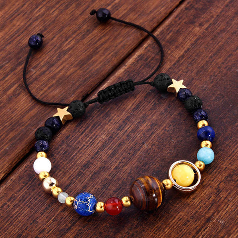"""The Galaxy"" Adjustable Lava Diffuser Bracelet + BONUS Dropper Bottle"