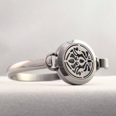 Art Nouveau Infinity No.5 - Stainless Steel Essential Oil Bracelet