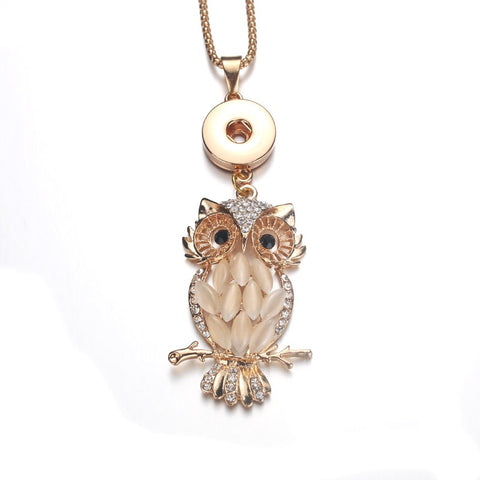 gold owl essential oil snap necklace essential oil diffuser necklace snap necklace ginger snap the oily amulet snap locket