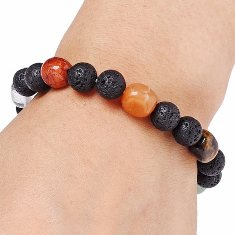 chakra natural stone essential oil lava bracelet diffuser jewelry the oily amulet solar plexus
