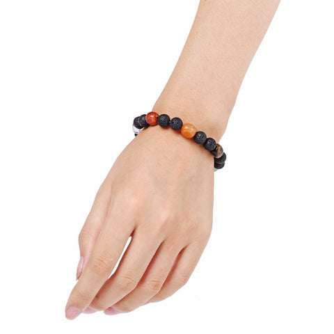 chakra natural stone essential oil lava bracelet diffuser jewelry the oily amulet