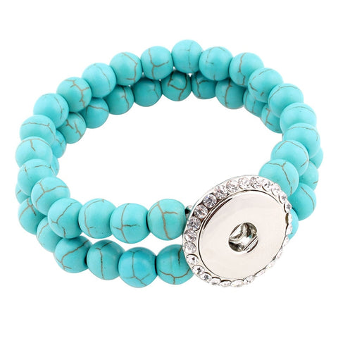 snap bracelet turquoise stone aromatherapy silver essential oil the oily amulet diffuser jewelry ginger snap
