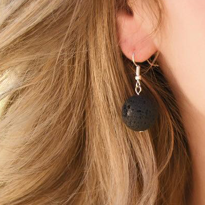 Lava Bead Diffuser Earrings