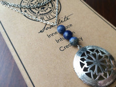 Essential Oil Locket Diffuser Necklace - Sodalite