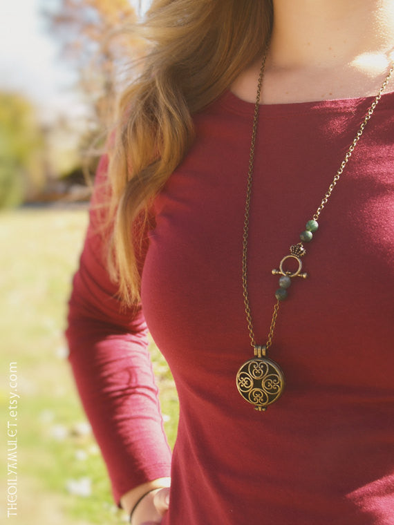 Celtic Essential Oil Diffuser Necklace