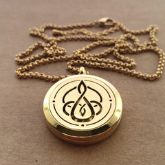 Celtic Mother & Child Knot No.3 - 18k Gold Plated Stainless Steel Diffuser Necklace