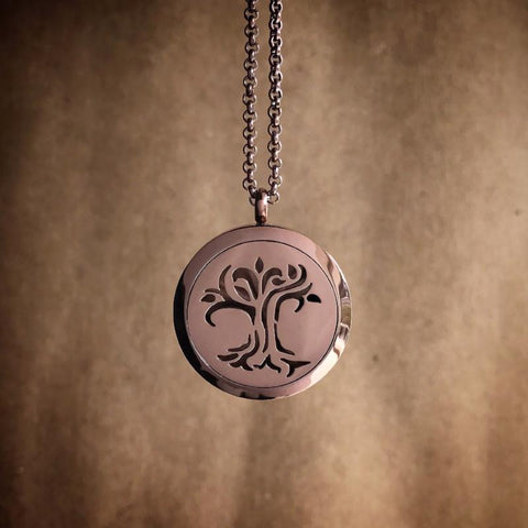 tree of life essential oil diffuse necklace