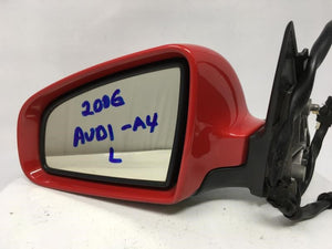 2002-2008 Audi A4 Driver Left Side View Power Door Mirror Red 15072