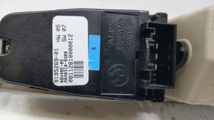 2011 Bmw 740 Driver Left Door Master Power Window Switch 9195269-01 R8s22b15 - Oemusedautoparts1.com