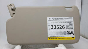 2011 2012 2013 Ford Fiesta Passenger Right Sun Visor Sunvisor Light Grey R8s38b03