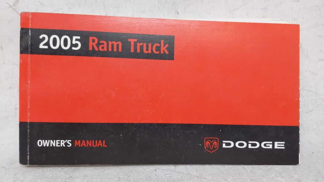 2005 Dodge Ram 1500 Owners Manual 52578 - Oemusedautoparts1.com