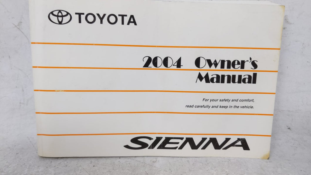 2004 Toyota Sienna Owners Manual 52995 - Oemusedautoparts1.com