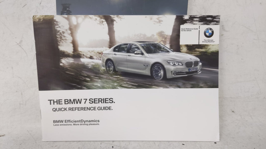 2013 Bmw 740i Owners Manual 53694 - Oemusedautoparts1.com