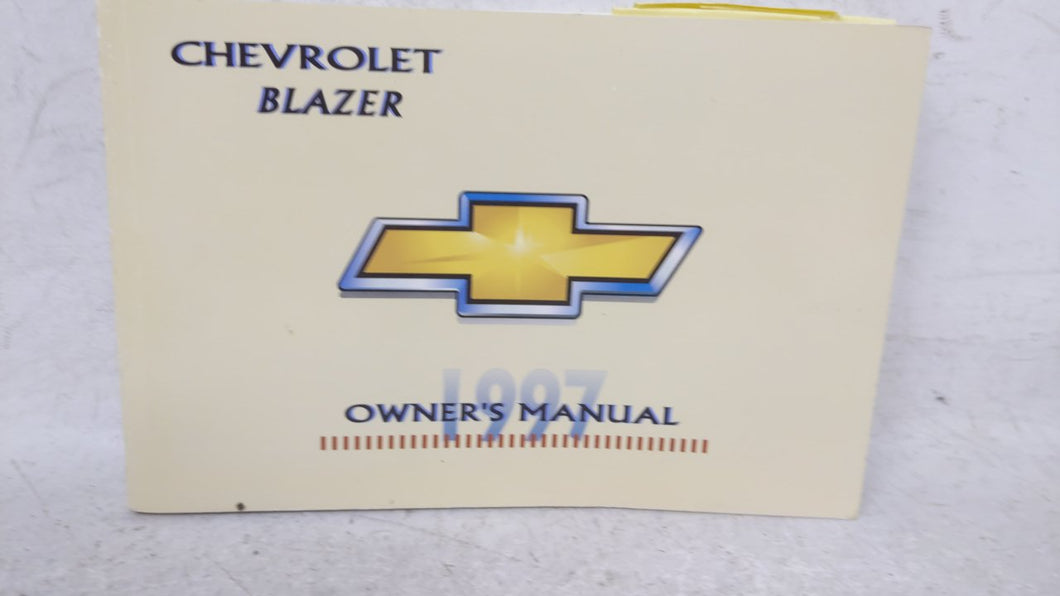1997 Chevrolet Blazer Owners Manual 53722 - Oemusedautoparts1.com