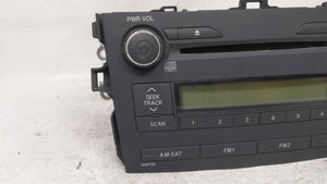 2009-2010 Toyota Corolla Am Fm Cd Player Radio Receiver 54386 - Oemusedautoparts1.com
