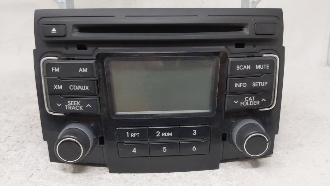 2011-2011 Hyundai Sonata Am Fm Cd Player Radio Receiver 54766 - Oemusedautoparts1.com