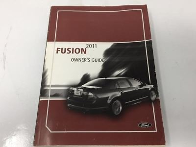 2011 Ford Fusion Operator Owners Manual User Guide W373g