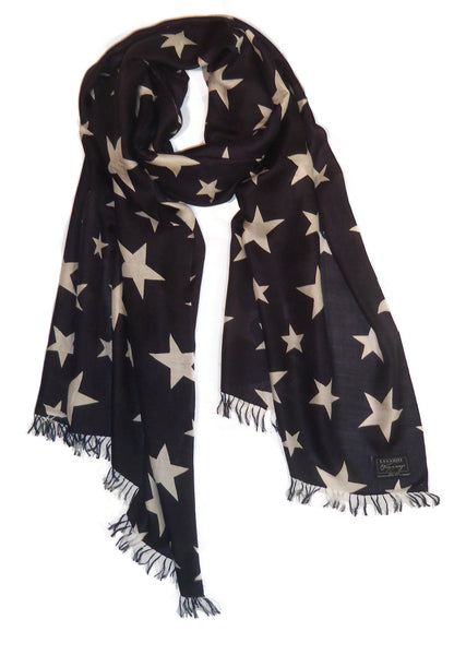 Stars on Fine Merino Wool