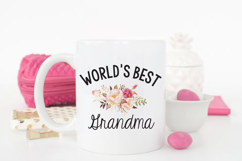 World's Best Grandma Floral Coffee Mug