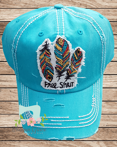 Free Spirit Turquoise Hat - Bloomin Grace Bowtique