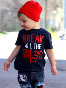 Boys Funny Shirts - Break All the Rules - Toddler Boys Shirt
