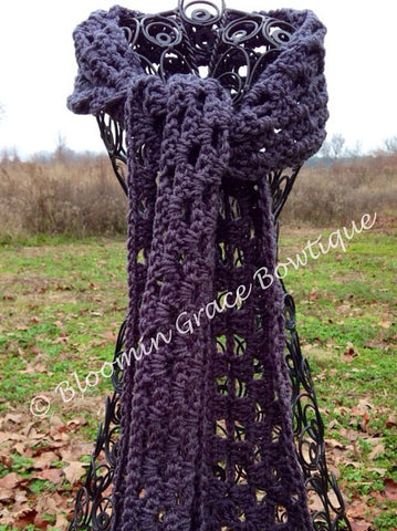 Adult Crocheted  Scarf