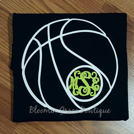 Basketball Shirt, Monogrammed, Personalized, Vinyl - Bloomin Grace Bowtique