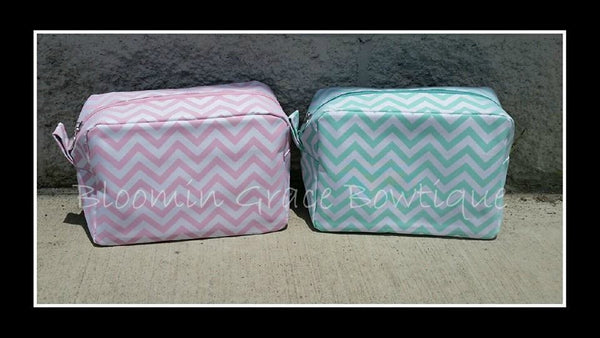 Makeup Bags - Chevron - Quatrefoil - Accessorie Bag - Monogrammed - Personalized - Makeup Pouch - Toiletry Bag - Gift For her - Christmas