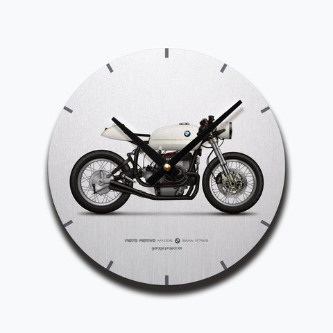 BMW R75/5 Cafe Racer Motorcycle illustration Wall Clock