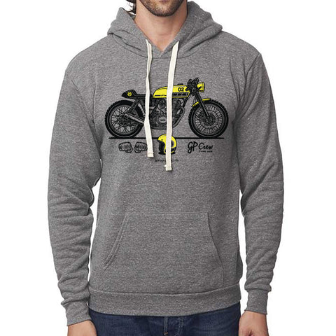 GP Crew 002 - Yamaha SR400 Cafe Racer Pullover Hoodie