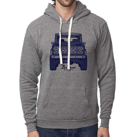 Classic Ford Bronco Front Pullover Hoodie