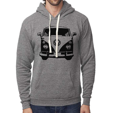 Classic VW Micro Bus Front Pullover Hoodie