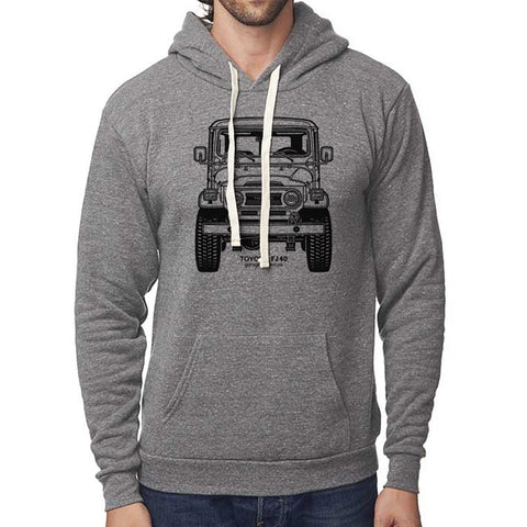 Classic Toyota FJ40 Land Cruiser Front Pullover Hoodie