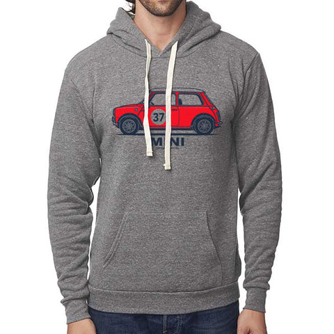 Classic Mini Cooper S Side Pullover Hoodie