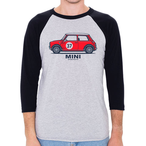 Classic Mini Cooper S Side 3/4 Sleeve, Baseball Shirt