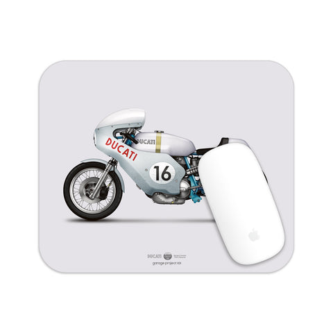 Ducati Smart Imola motorcycle illustration Mouse Pad