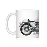 Ducati 750ss (supersport) motorcycle illustration Coffee Mug