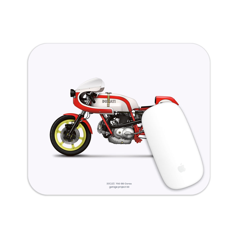 Ducati 750ss Corsa Motorcycle illustration Mouse Pad