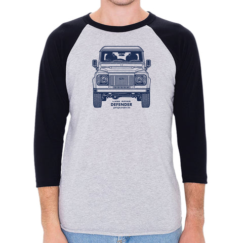 Land Rover Defender Front Men's 3/4 Sleeve, Baseball Shirt