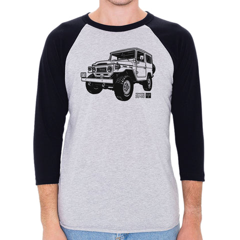 Toyota FJ40 Land Cruiser Men's 3/4 Sleeve, Baseball Shirt