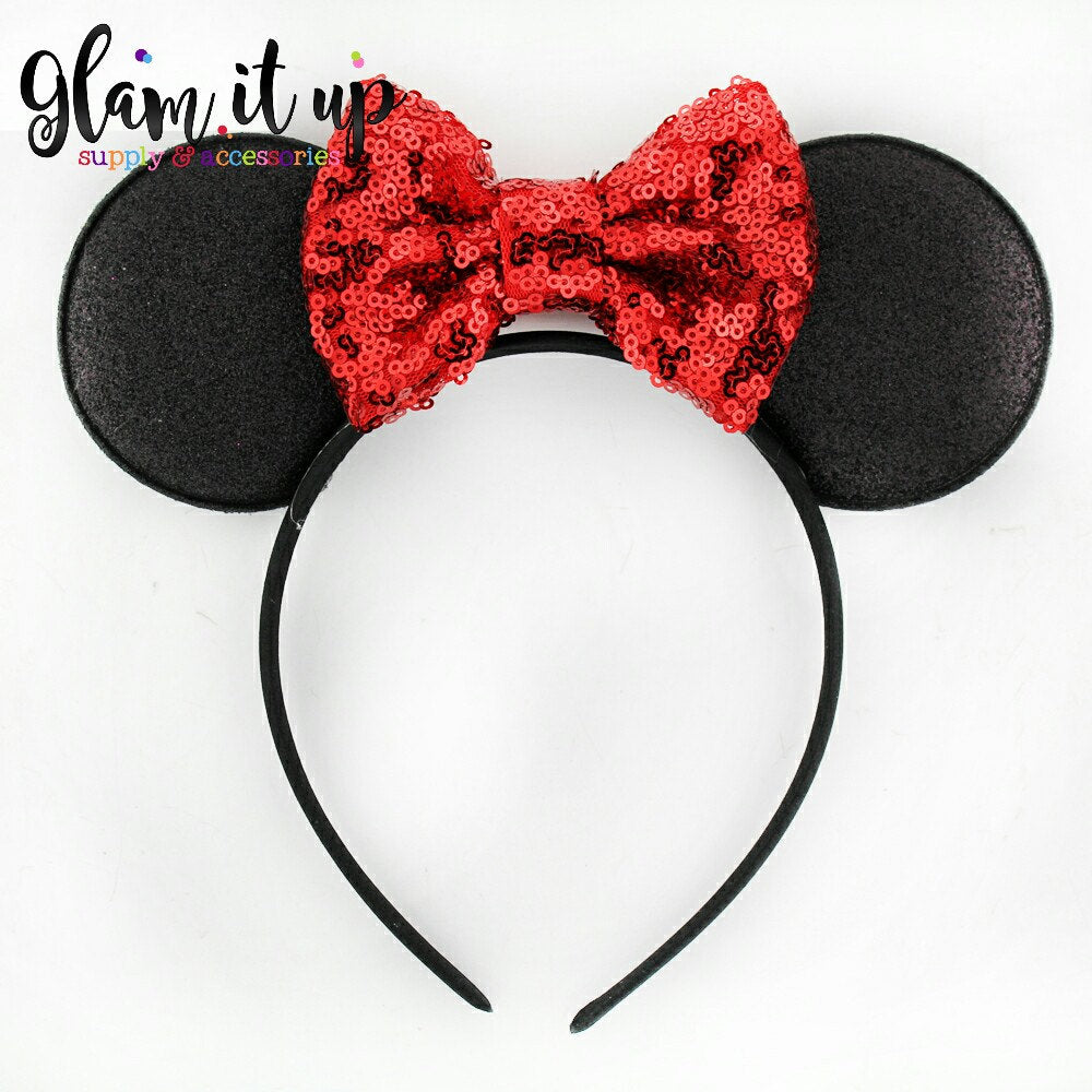 Minnie Mouse Ears Sequin Headband Baby Toddler