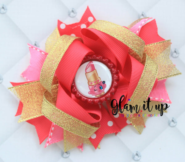 Shopkins Lippy Lips Hair Bow