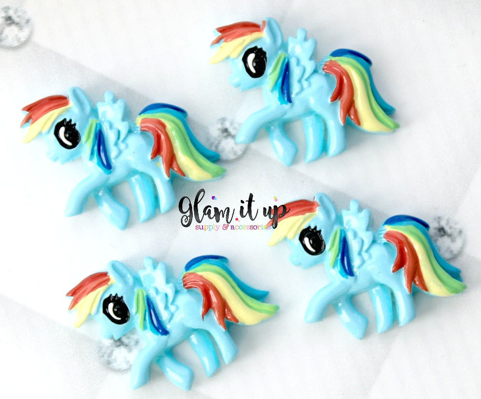 My Little Pony Bow Center - Rainbow Dash Resin