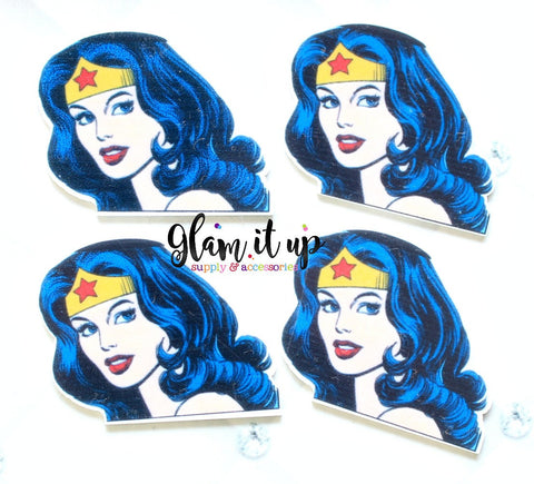 Wonder Woman Hair Bow Center