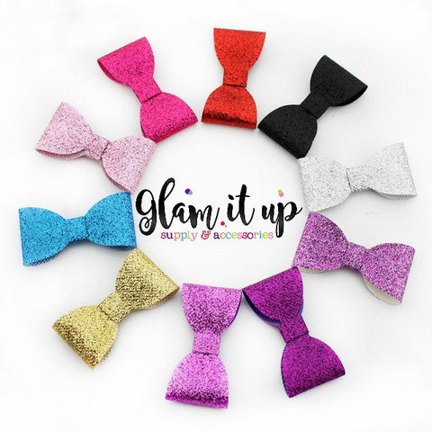 "2"" Glitter Bows - Bow Appliques"