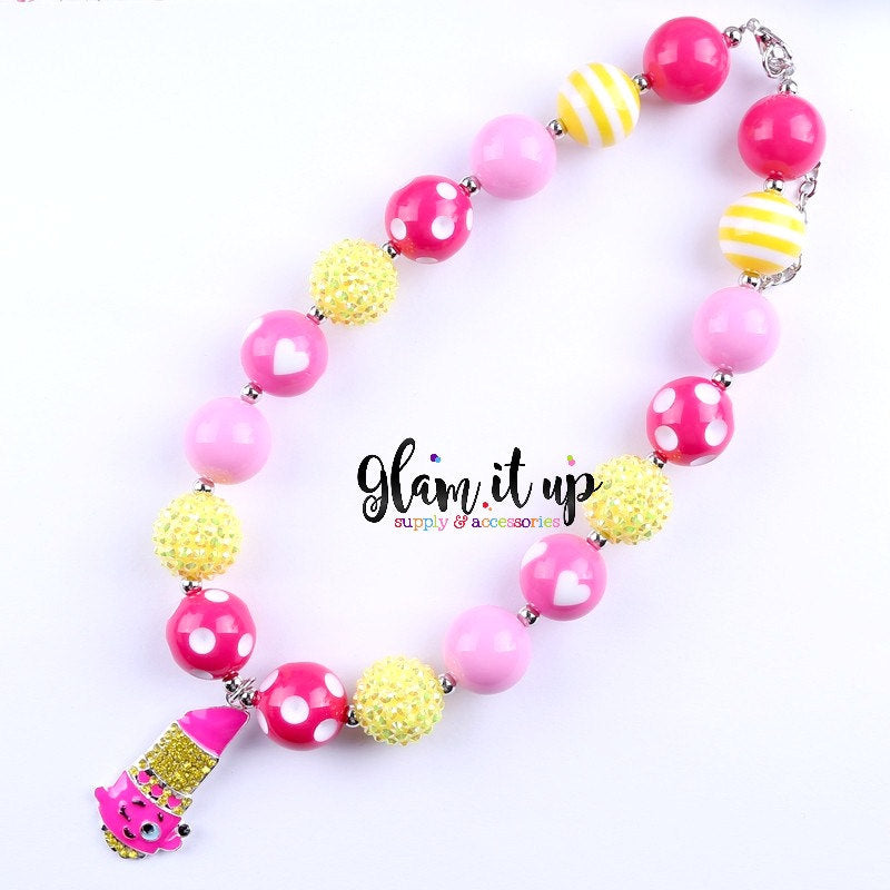 Shopkin Chunky Necklace - Lippy Lips
