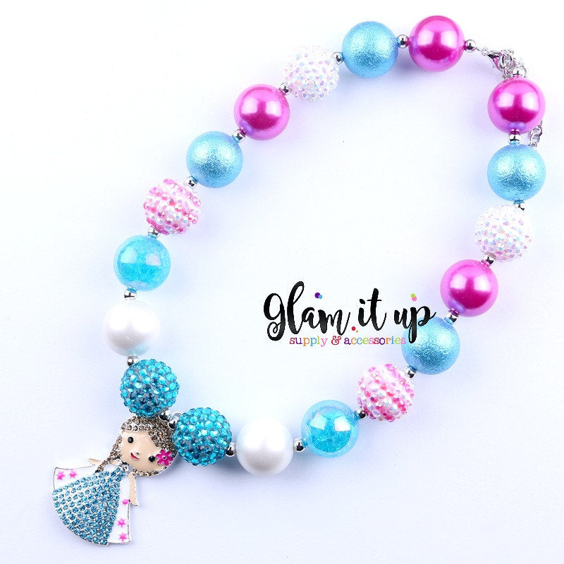 Elsa Frozen Necklace - Chunky Necklace