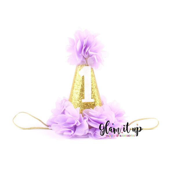 Purple and Gold Birthday Hat